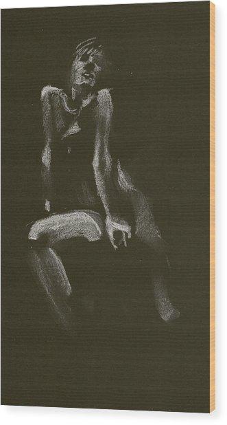 Kroki 2014 10 18_3 Figure Drawing White Chalk Wood Print