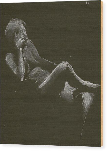 Kroki 2014 12 27_3 Figure Drawing White Chalk Wood Print