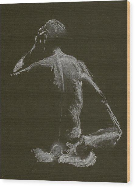 Kroki 2015 01 10_14 Figure Drawing White Chalk Wood Print