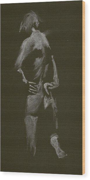 Kroki 2015 01 10_7 Figure Drawing White Chalk Wood Print
