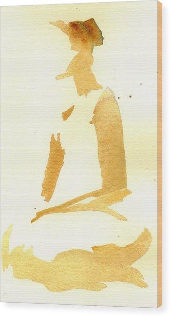 Kroki 2015 03 28_29 Maalarhelg 3 Akvarell Watercolor Figure Drawing Wood Print