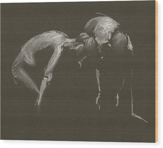Kroki 2015 04 25 _1 Figure Drawing White Chalk Wood Print