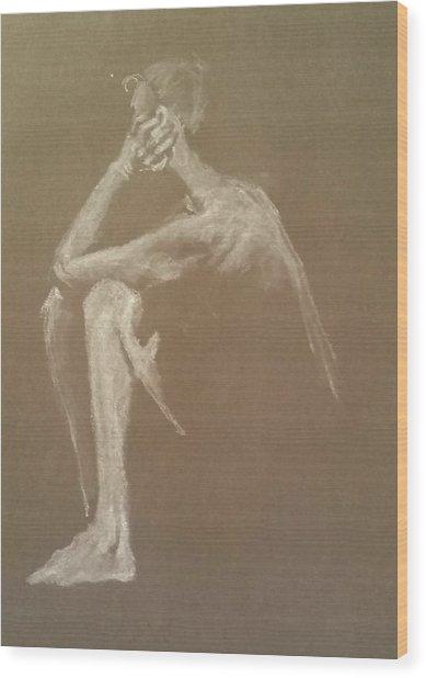 Kroki 2015 06 18_9 Figure Drawing White Chalk Wood Print