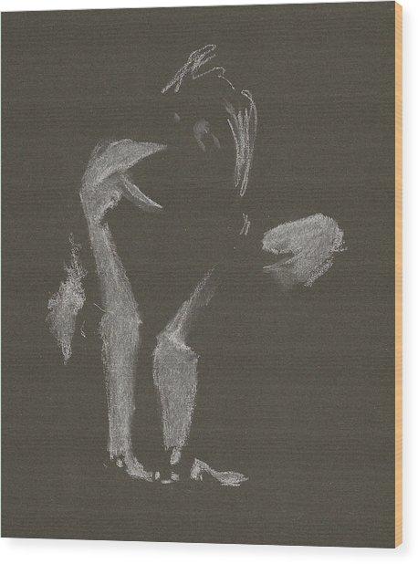 Kroki 2015 10 03_10 Figure Drawing White Chalk Wood Print