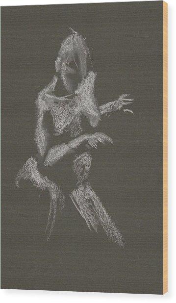 Kroki 2015 10 03_12 Figure Drawing White Chalk Wood Print