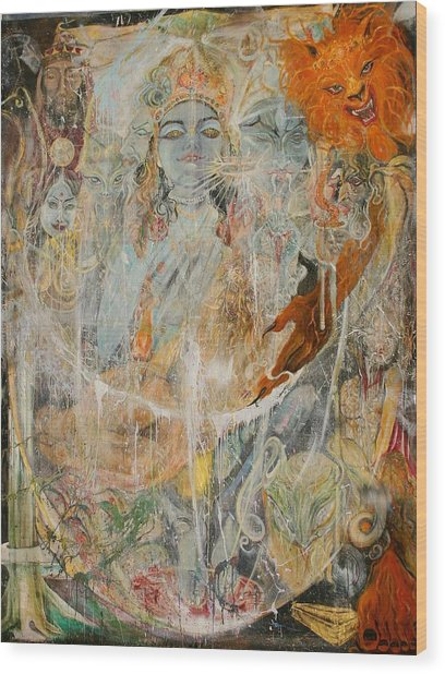 Krsna Wood Print by Brian c Baker