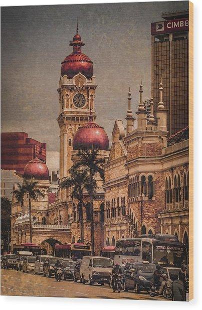 Kuala Lumpur, Malaysia - Red Onion Domes Wood Print