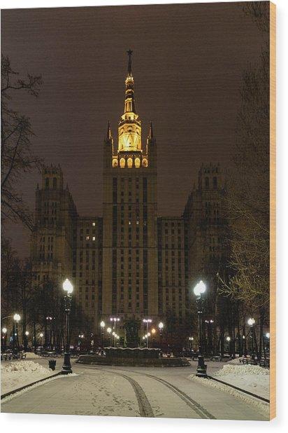 Kudrinskaya Square Wood Print