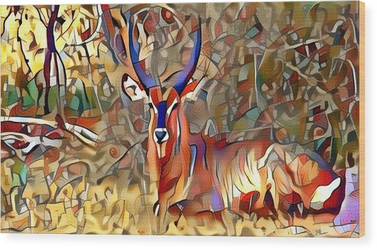 Kudu Wood Print