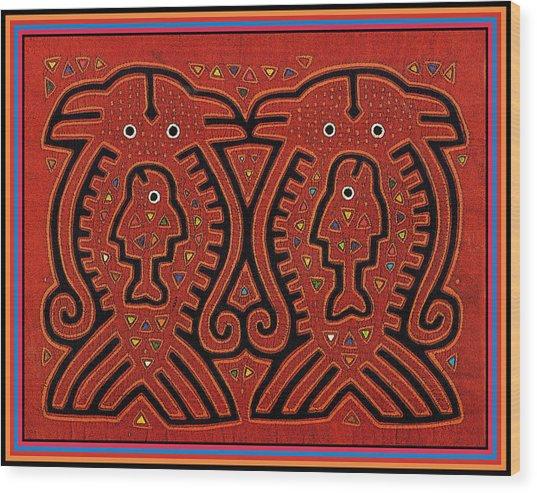 Kuna Indian Skate Fish Wood Print