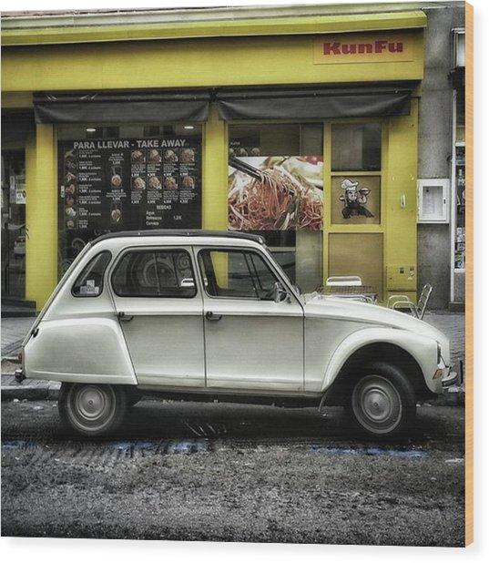 Kunfu Car #2cv #dyane #dyane6 Wood Print