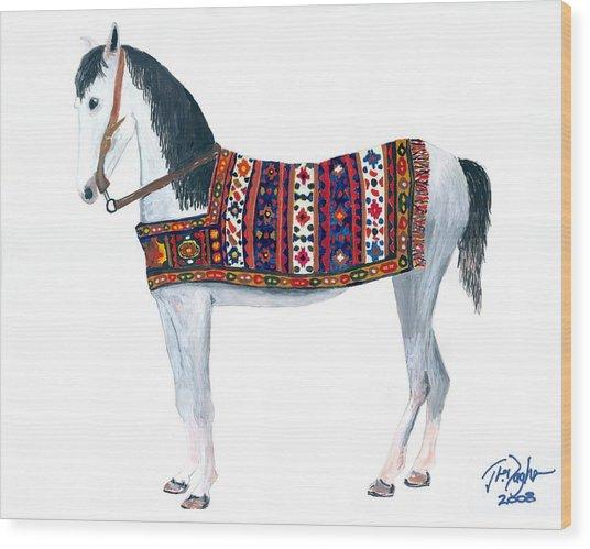 Kurdistan Pony Wood Print