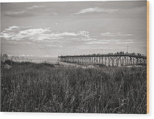 Wood Print featuring the photograph Kure Beach Pier by Willard Killough III