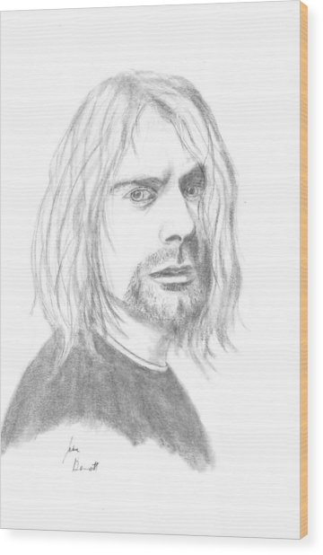 Kurt Cobain Wood Print by Josh Bennett