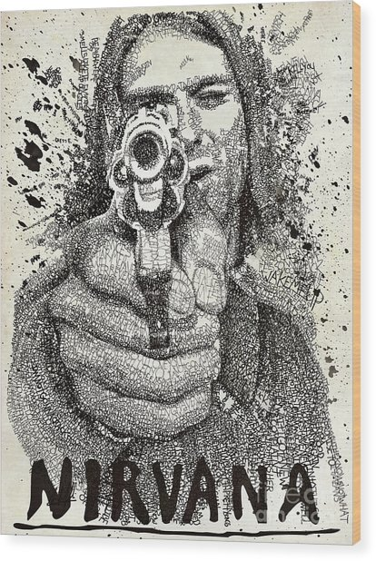 Kurt Poster Wood Print