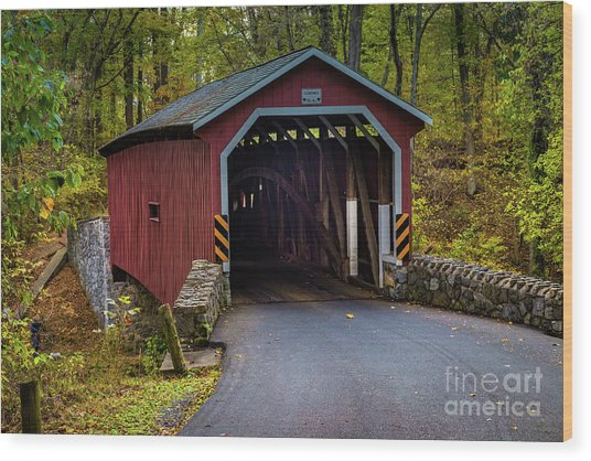 Kurtz Mill Covered Bridge Wood Print