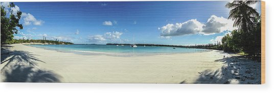 Kuto Bay Morning Pano Wood Print