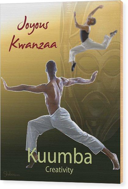 Kwanzaa Kuumba Wood Print