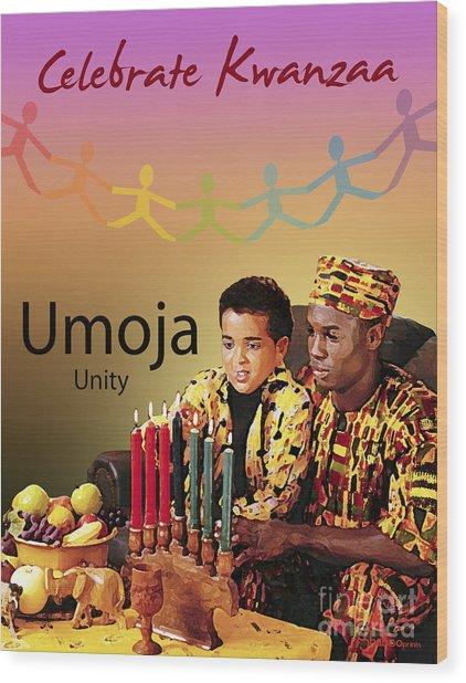Kwanzaa Umoja Wood Print