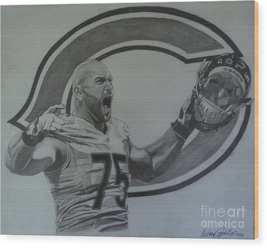 Kyle Long Of The Chicago Bears Wood Print