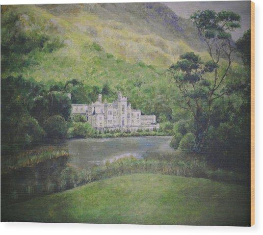 Kylemore Abbey Wood Print by Cynthia Satton