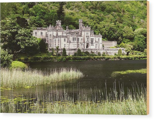 Kylemore Abbey Victorian Ireland Wood Print
