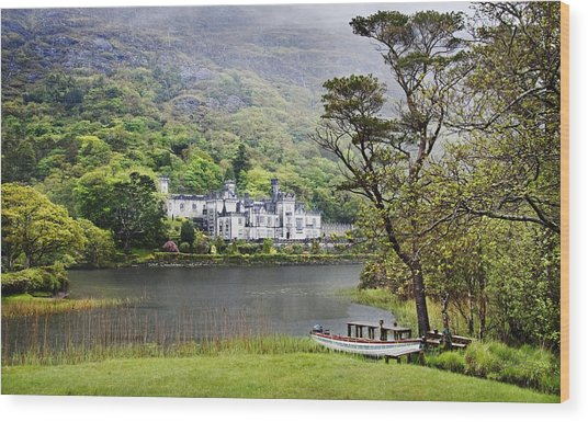 Kylemore Castle Wood Print