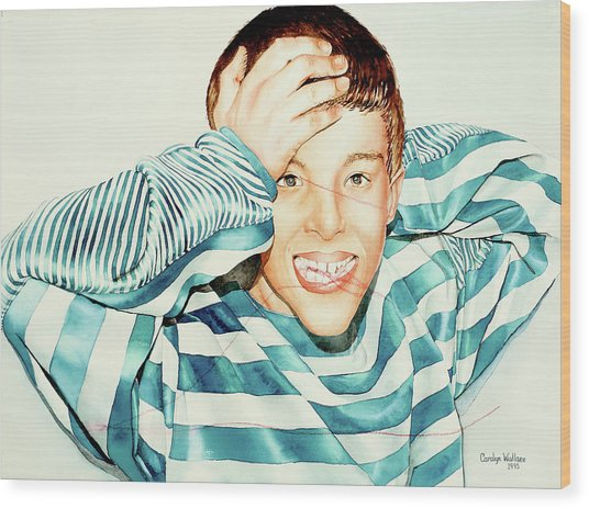 Kyle's Smile Or Fragile X Stressed Wood Print