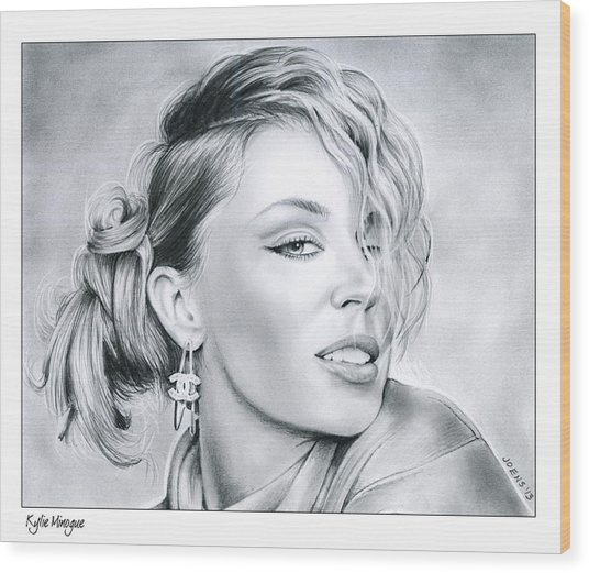 Kylie Minogue Wood Print