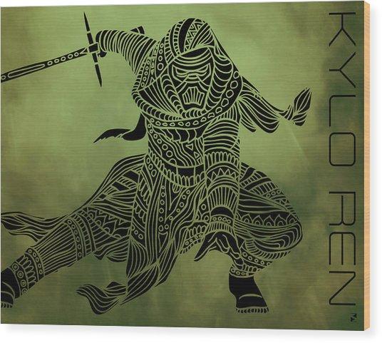 Kylo Ren - Star Wars Art  Wood Print