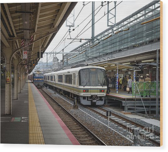 Kyoto To Osaka Train Station, Japan Wood Print