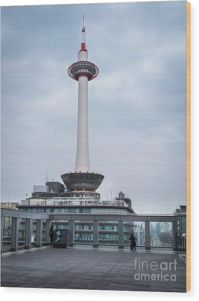 Kyoto Tower, Japan Wood Print