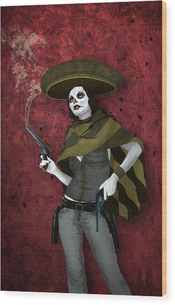 La Bandida Muerta Wood Print