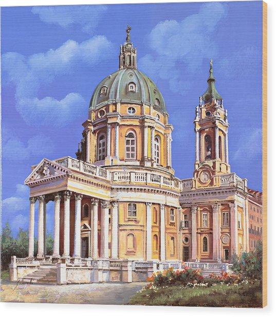 la basilica di Superga Wood Print