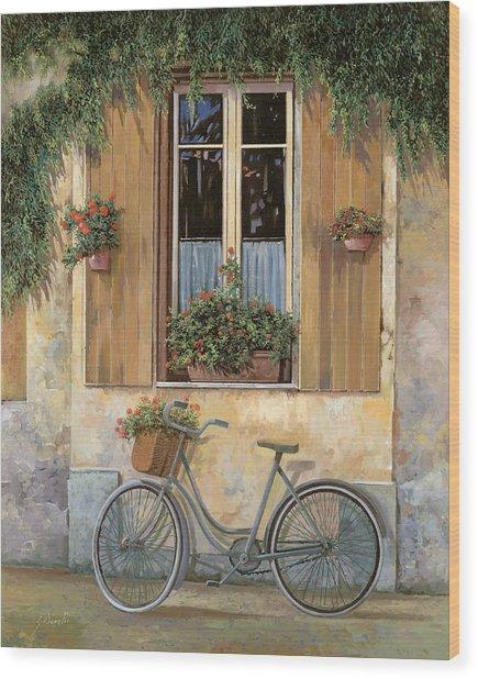 La Bici Wood Print