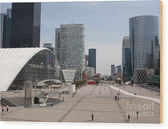 La Defense Wood Print by Andy Smy