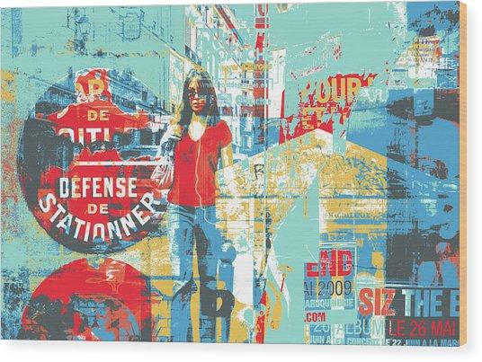 La Defense Wood Print by Shay Culligan