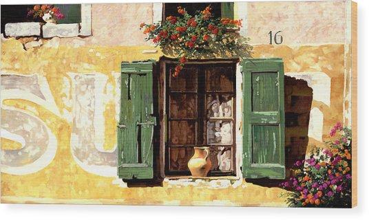 la finestra di Sue Wood Print