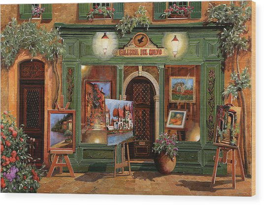 La Galleria Del Corvo Wood Print
