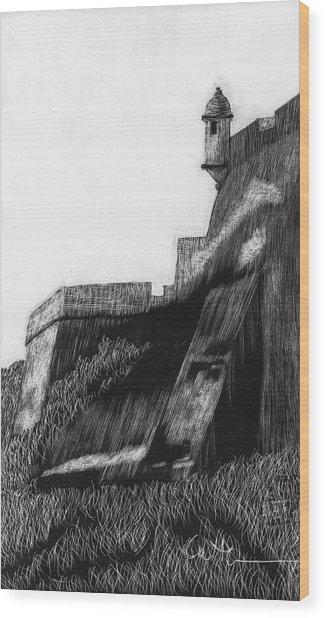 La Garita De El Morro Wood Print by Diane Cutter
