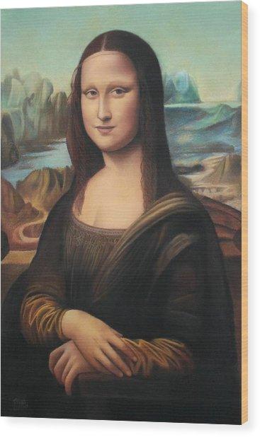 La Gioconda - Pastel  Wood Print