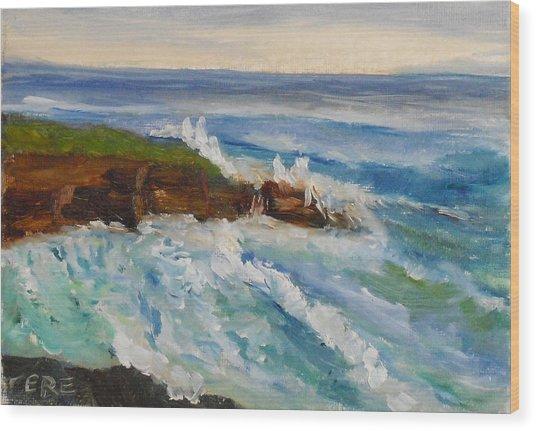 La Jolla Cove 010 Wood Print