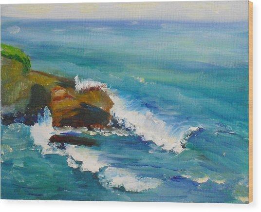 La Jolla Cove 038 Wood Print
