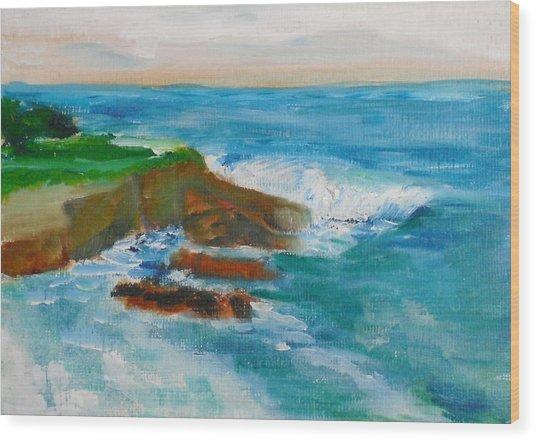 La Jolla Cove 041 Wood Print