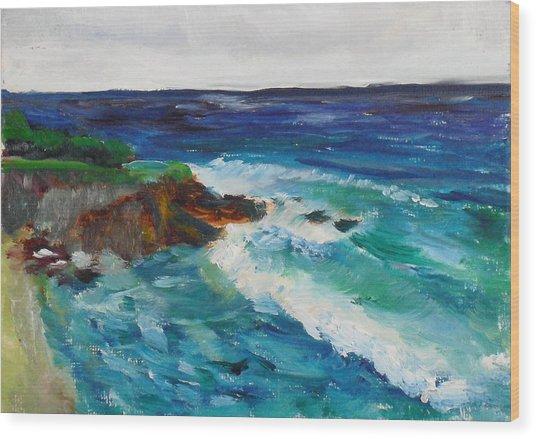 La Jolla Cove 043 Wood Print