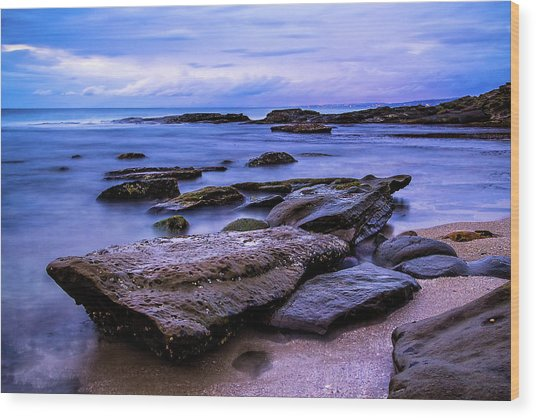 La Jolla Cove Twilight Wood Print