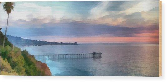 La Jolla Scripps Pier Wood Print