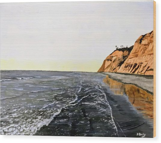 La Jolla Shoreline Wood Print