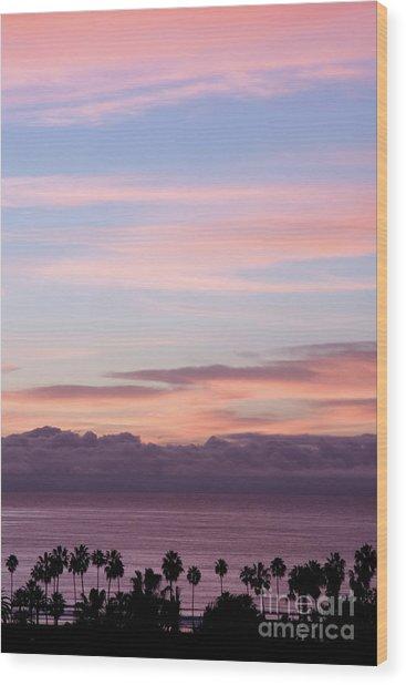 La Jolla Shores In California Wood Print by Julia Hiebaum