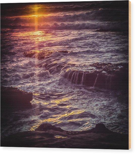 La Jolla Sunset Wood Print